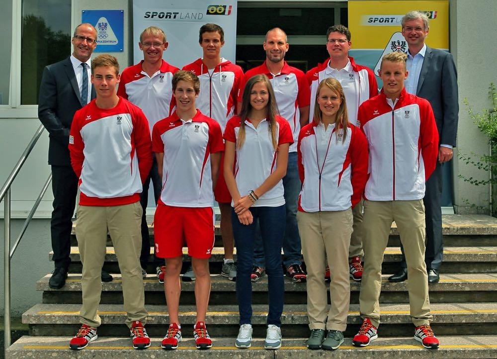 Verabschiedung Landesrat Dr. Strugl des Olympiateams für die YOG Nanjing 2014