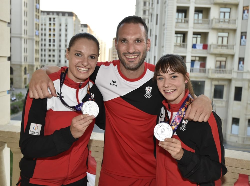 Karate-SILBER European Games Baku 2015 / Bettina Plank & Alisa Buchinger