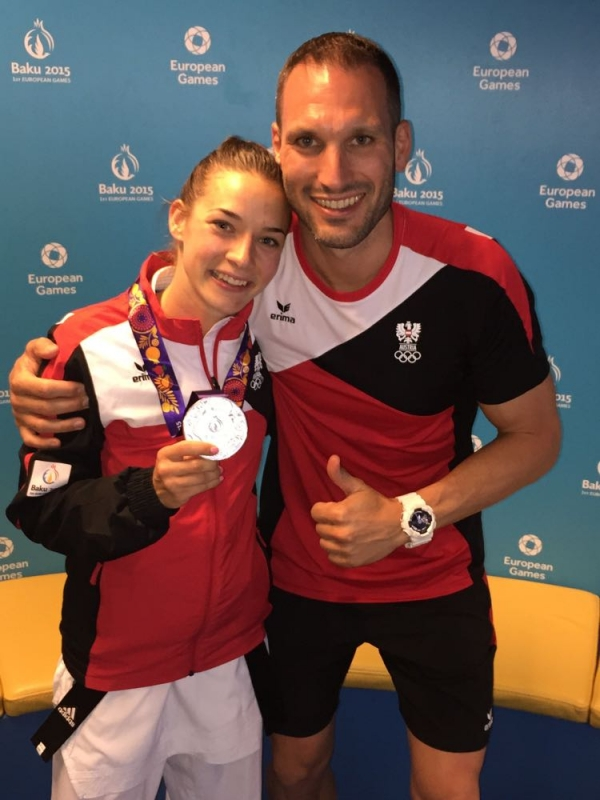 Karate-SILBER European Games Baku 2015 / Bettina Plank