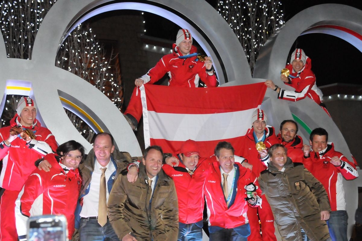 Skisprung Olympiateam Austria